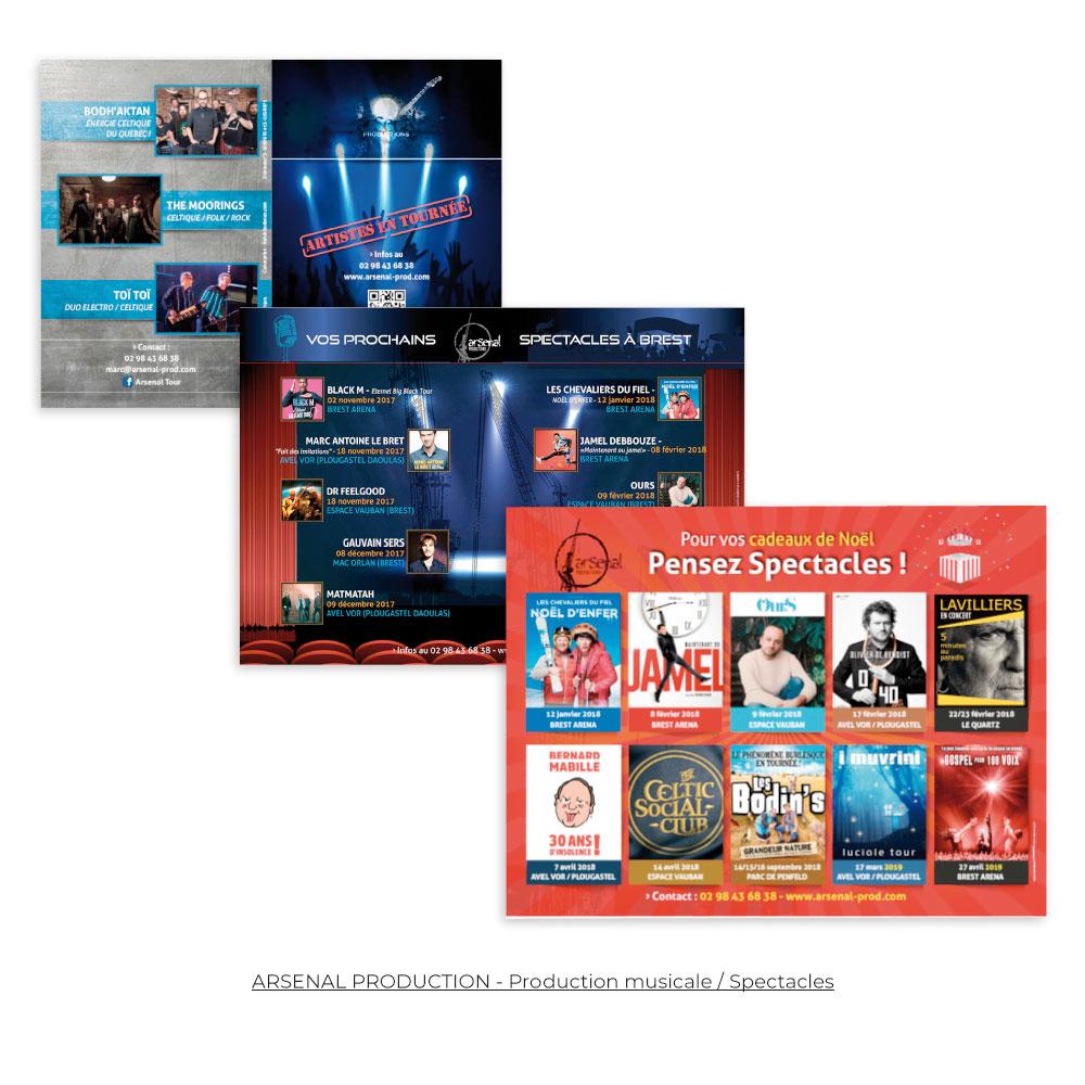 plaquette flyer affichage urbain- imprimerie-infographie-Brest - Finistère-Bretagne